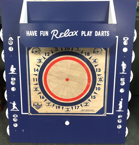 American Dartboard Scorekeepers Cabinet Blue/White - Darts