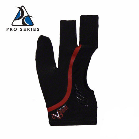 Cool Edge Fingerless Billiard Glove Red
