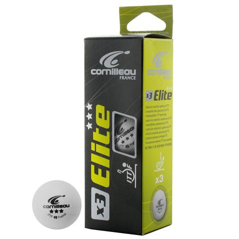 Cornilleau Elite Ping Pong Balls 3 Pack - Accessory