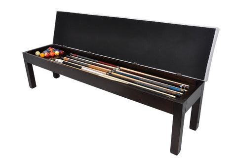 La Condo Storage Bench - Pool Table Accessory