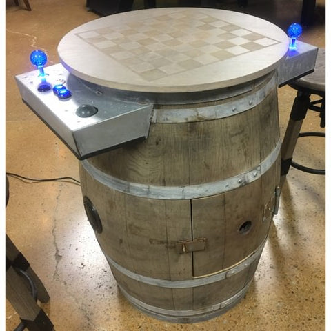 Barrel Cocktail Arcade w/ 60 Games