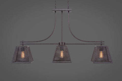 Vintage bar lights corbello 3 light bar in dark granite finish with 95 dark granite metal shades aloadofball Image collections