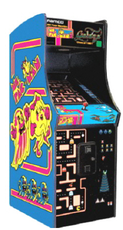 Ms. Pac-Man/Galaga Stand Up Game - game