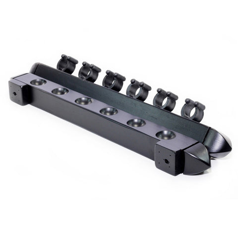 Roman 2 Piece Wall Rack (6 Cue) - Black - Cue Rack
