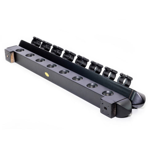 Roman 2 Piece Wall Rack (8 Cue) - Black - Cue Rack