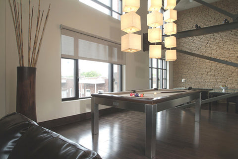 La Condo Stainless Pool Table - Pool Table - 1