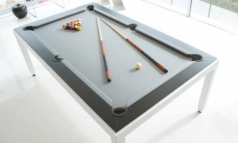 Fusion White Powder Coated Pool Table - Pool Table - 1