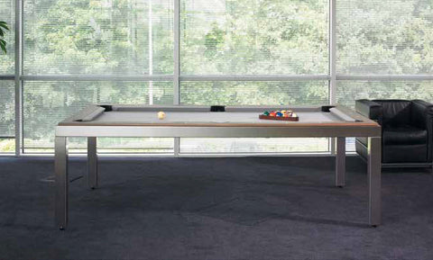 Fusion Brushed Stainless Steel Pool Table - Pool Table - 1