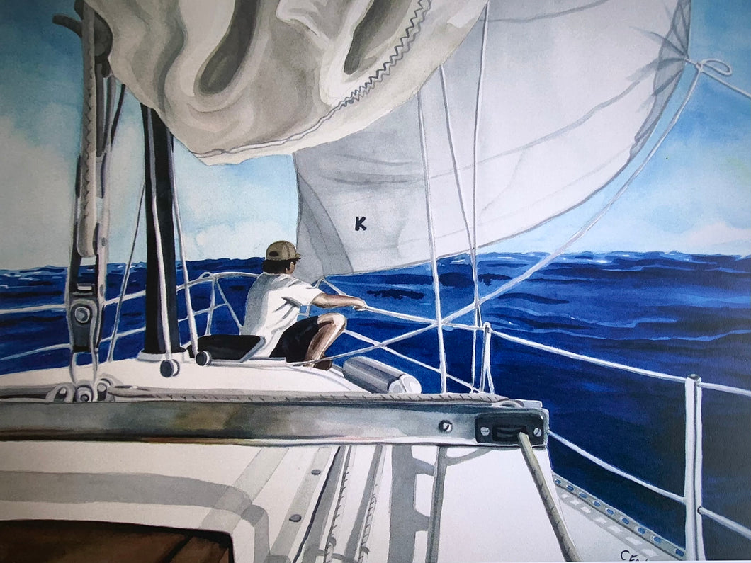 Art Print by Cathy Earle - Sailboat