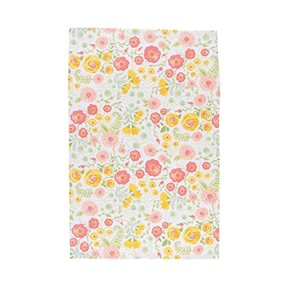 Floret Tea Towel green