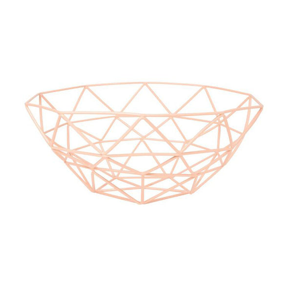 Wire Gem Basket, peach