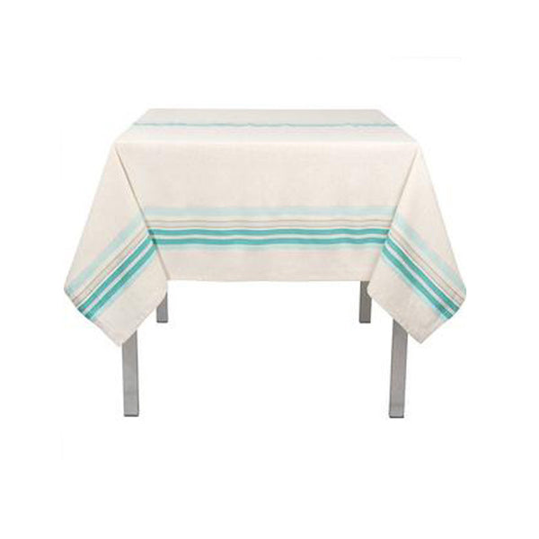 Tablecloth, 60 inch Aqua Stripe