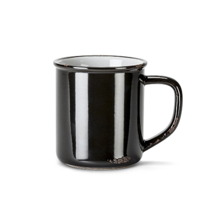 RB Black Enamel-Look Mug
