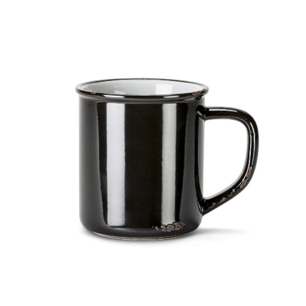 Black Enamel-Look Mug