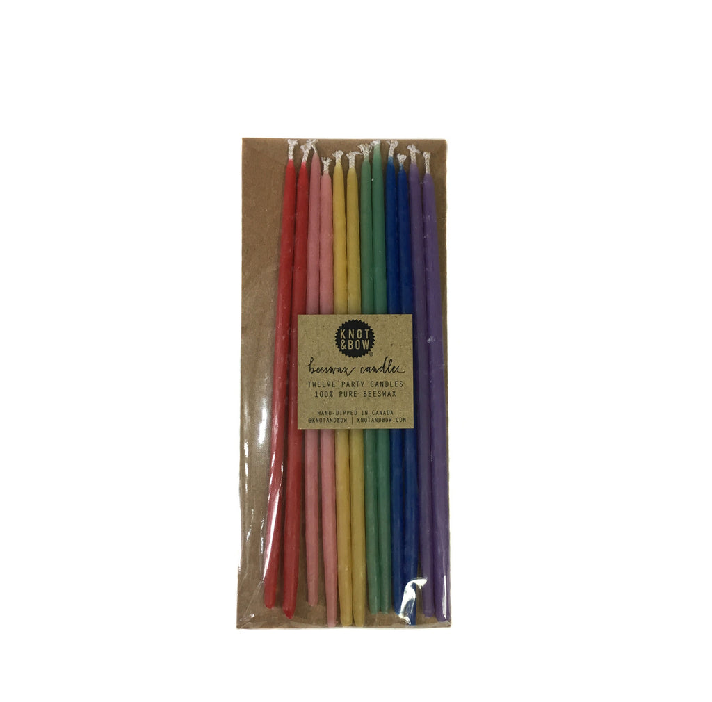 Rainbow Celebration Candles-six inches