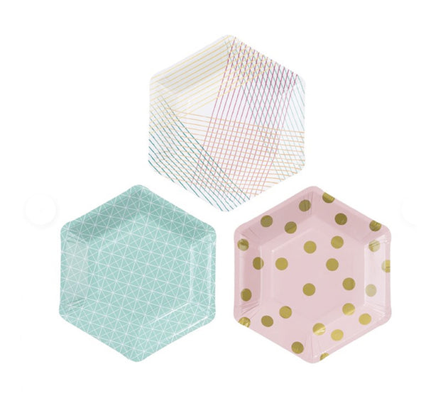 Patterned Cake Plates, three styles per package, twelve total