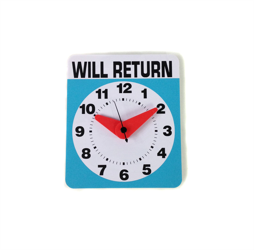 RB Will Return Clock - battery operated