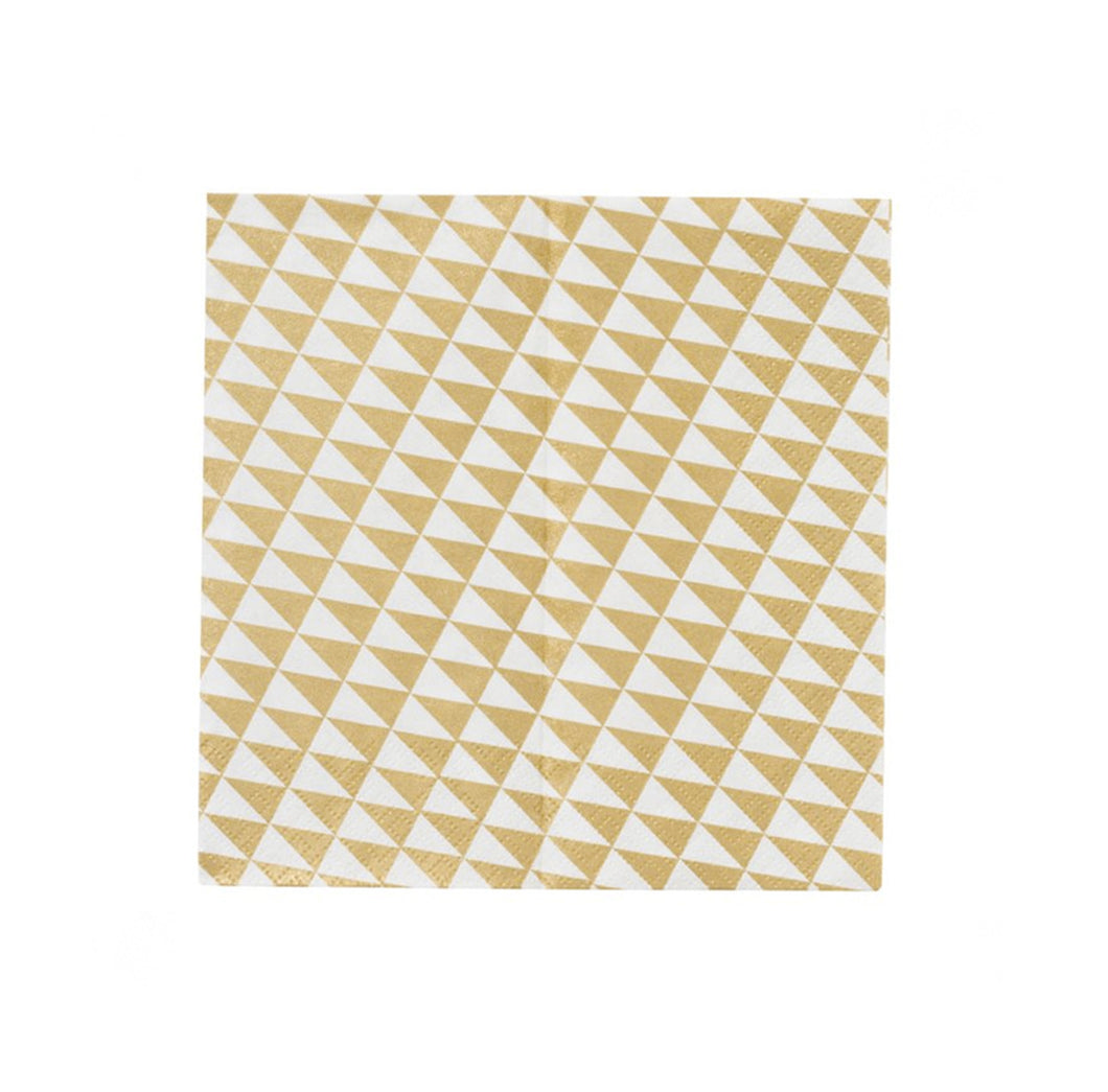 Gold and White Geometric Napkins