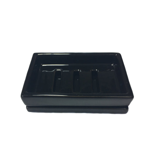 Black, Ceramic Soap Dish