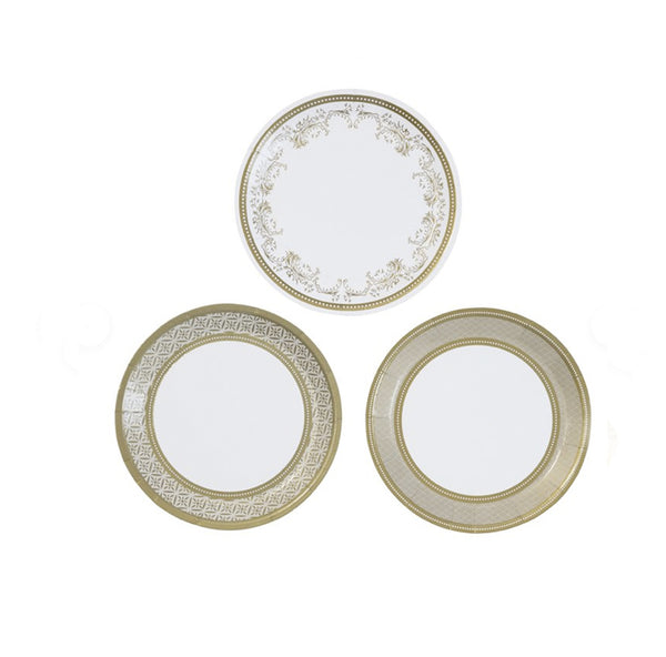 Metallic Canape Plates-twelve per package
