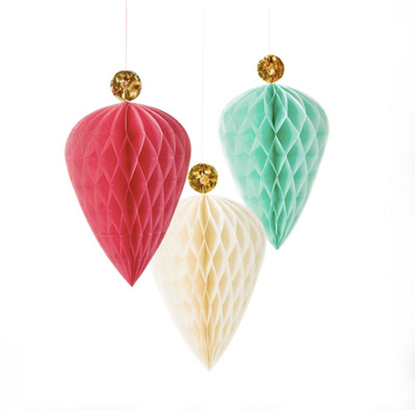 Hanging Honeycomb Ornaments