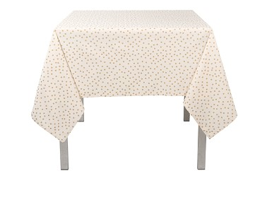 Gold Confetti Tablecloth