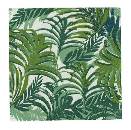 Tropical Leaf Tiki Napkins green
