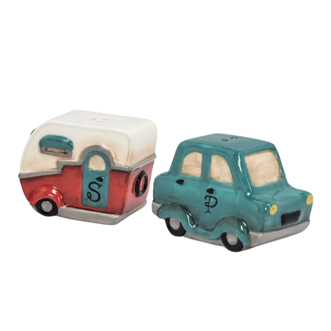 Car and Camper Salt and Pepper Shakers