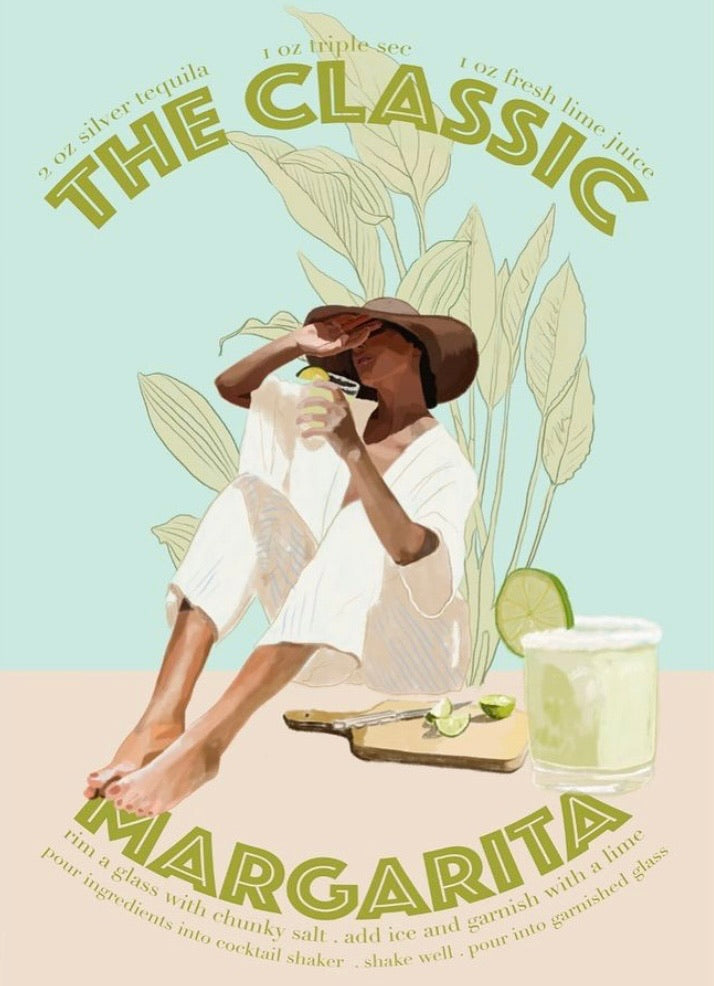 Art Print By Jenny Liz Rome - The Classic Margarita