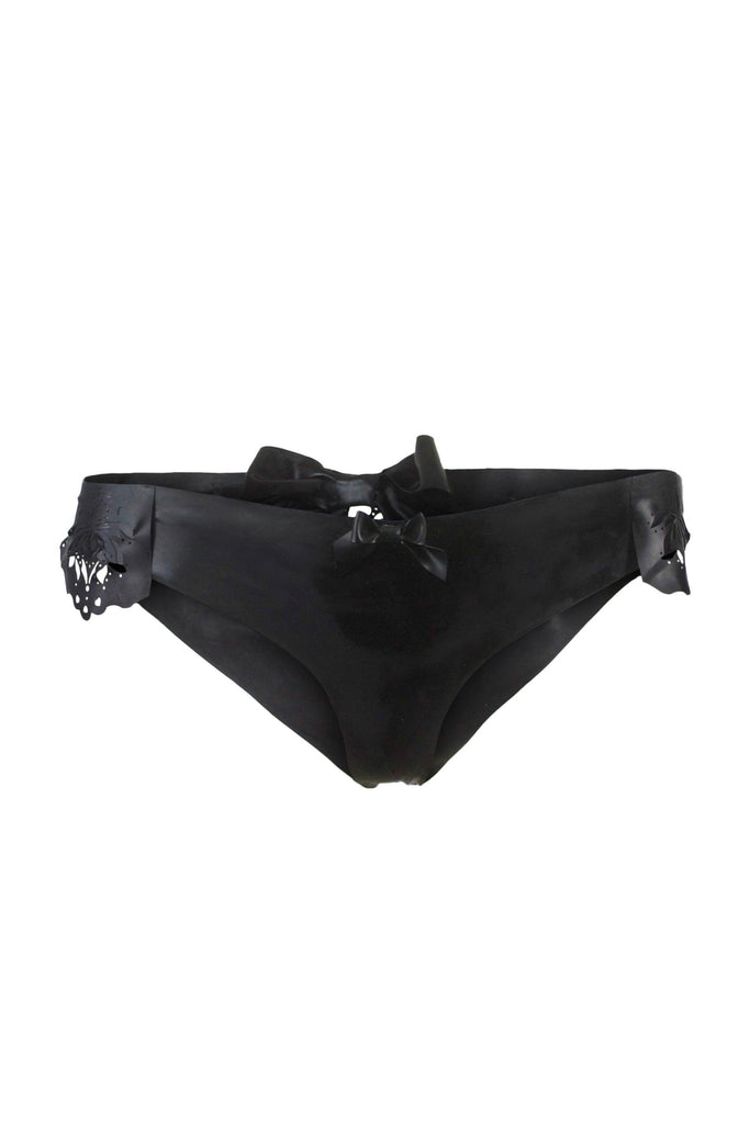 Godiva Latex Ouvert knickers - Black - Made to order
