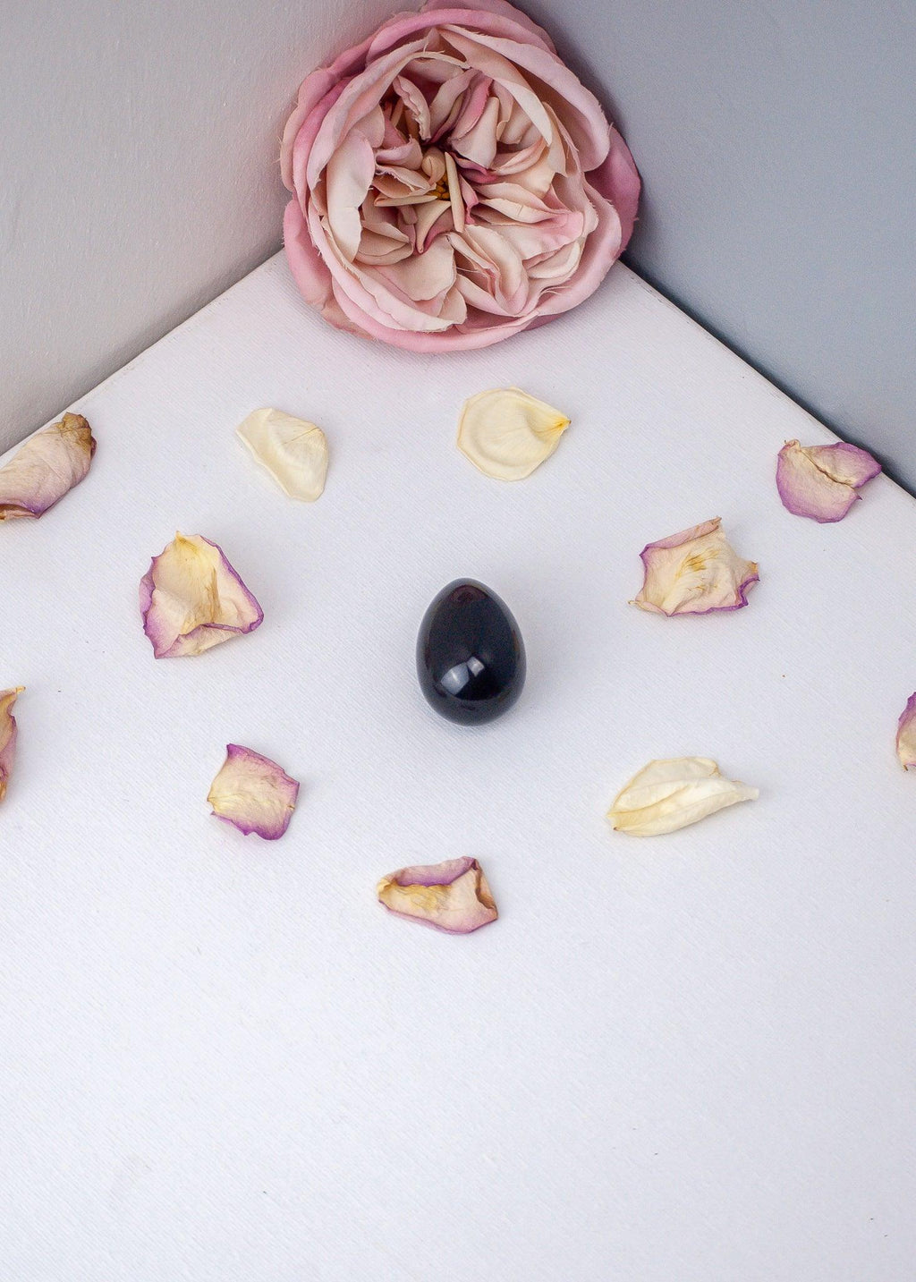 Obsidian Yoni Egg, Crystal Gemstone Healing, Kegel Muscle and Pelvic Floor Training, Single Drilled or Undrilled Yoni Egg