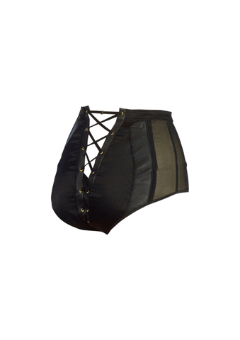 Lola 'n' Leather High Waisted Knickers