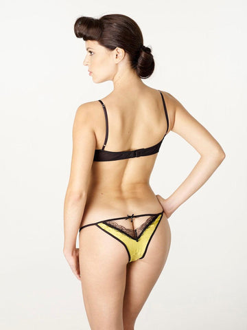 Sale Clearance - Citrus Classic lace trim open back tanga knickers