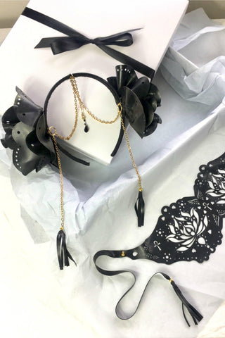 Latex goddess mask and headband gift set - Made to order