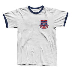 BRITISH BOMBS RINGER TEE WHITE / NAVY