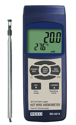 Thermo anemometer data logger