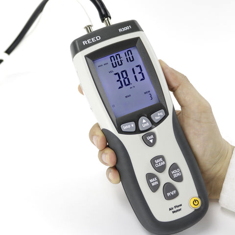 0.7 PSI Digital manometer and anemometer ±0.3% accuracy