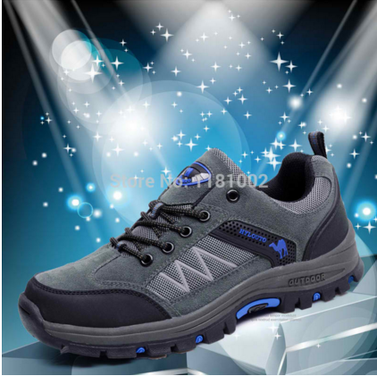 size 39-44 Breathable men shoes Outdoor sneakers fur leather sports shoes HY2599 Hiking shoes climbing shoes famous brand