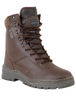 KombatUK Patrol Boots - All Leather (Brown)