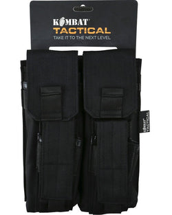 KombatUK Double Mag Pouch with PISTOL Mag - Black