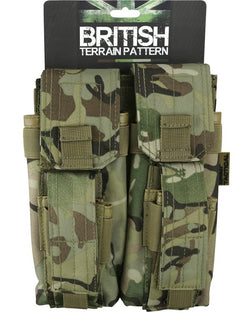 KombatUK Double Mag Pouch with PISTOL Mag - BTP