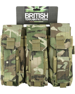 KombatUK Triple Mag Pouch with PISTOL Mag- BTP