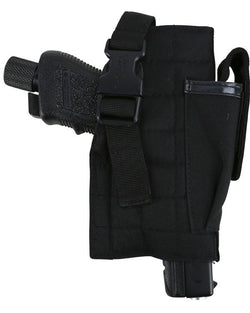 KombatUK Molle Gun Holster with Mag Pouch - Black