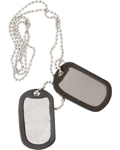 KombatUK Dog Tags - Silver