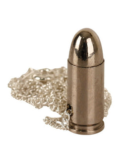 KombatUK 9mm Bullet Chain Necklace - Silver