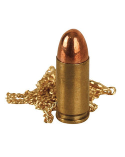 KombatUK 9mm Bullet Chain Necklace - Gold
