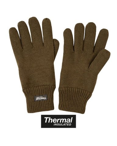 KombatUK Thermal Gloves - Olive Green
