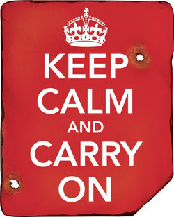 KombatUK Keep Calm & Carry On Sign
