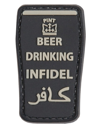 KombatUK Beer Drinking Infidel Patch (Black)