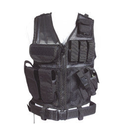 Web-tex Cross Draw Vest - Black